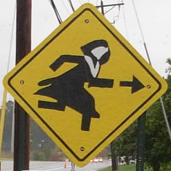 Nun Run sign